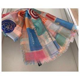 Chanel-STOLE CHANEL CASHMERE-Multiple colors