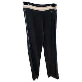 Chanel-Pants, leggings-Black