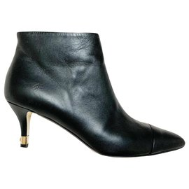 Chanel-Classic Chanel black ankle boots-Black