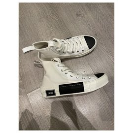 Christian Dior-Dior B High Top Sneakers23-Black,White
