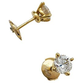 Cartier-Boucles d'oreilles Cartier diamants.-Autre