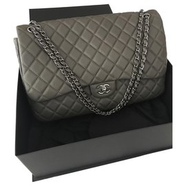 Chanel-Timeless Travel Flap Bag-Taupe