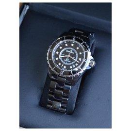 Chanel-Chanel J watch12 38mm ref.H1626-Black,Silvery