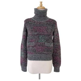 Chanel-Chanel Wool Cashmere turtleneck sweater-Multiple colors