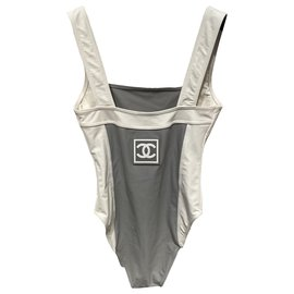 Chanel-Swimsuit-White,Grey