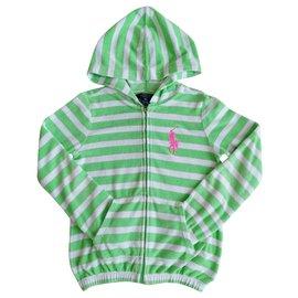 Ralph Lauren-Cotton cardigan-White,Green