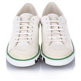 Balenciaga-Balenciaga White Match Canvas Sneaker-White,Green