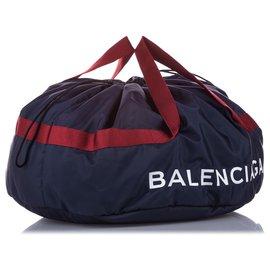 Balenciaga-Balenciaga Black S Wheel Everyday Nylon Travel Bag-Black,Blue,Navy blue