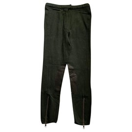 Alexander Mcqueen-Pants, leggings-Khaki