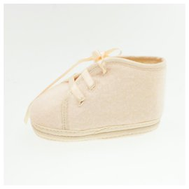 Hermès-HERMES Baby Shoes Light Pink Wool Auth 15166-Other