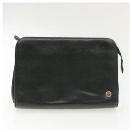 Yves Saint Laurent-YVES SAINT LAURENT LOEWE Valentino Garavani Hand Clutch Bag 3Set Auth ar2971-Black,Yellow
