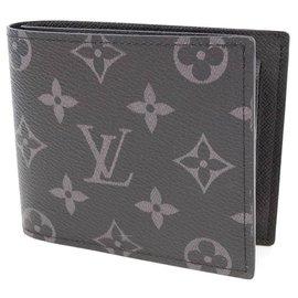 Louis Vuitton-Louis Vuitton portofeuilles MarcoNM Mens Folded wallet black-Black