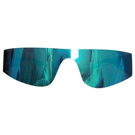 Balenciaga-Balenciaga mirrored sunglasses-Light blue,Turquoise