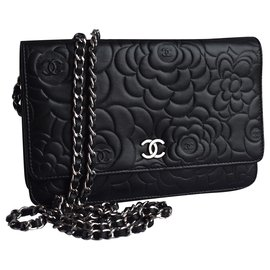 Chanel-WOC Wallet on Chain Camellia-Black