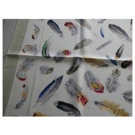 Hermès-Hermès square feathers Henri de Linares with box-Other