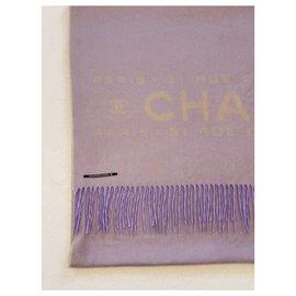 Chanel-Scarves-Beige,Lavender