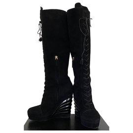 Yves Saint Laurent-Boots-Black