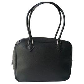 Hermès-HERMES - MINI EPSOM CALF FEATHER BLACK very good condition-Black