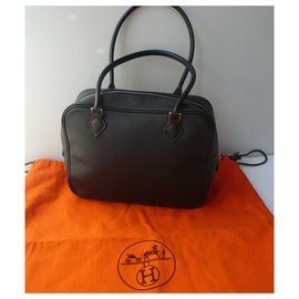 Hermès-HERMES – MINI PLUME VEAU EPSOM NOIR TBE-Noir