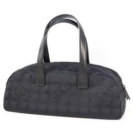 Chanel-CHANEL New Travel Line Mini boston Womens Boston bag A15828 black-Black