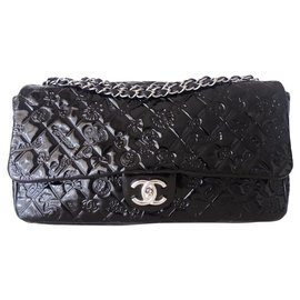 Chanel-CHANEL CLASSIC BAG MAXI BLACK-Black