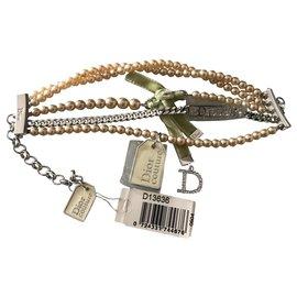 Dior-Bracelets-Argenté,Écru