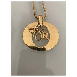 Dior-Colliers longs-Bijouterie dorée