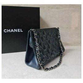 Chanel-Chanel Mademoiselle Biarritz No 5 Monaco Paris Purse Teal Patent Leather Baguett-Multiple colors