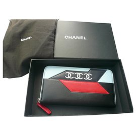 Chanel-CHANEL New Zipped Companion Wallet VP Leather-Multiple colors