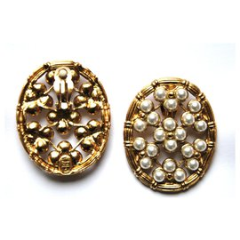 Dior-ovale perles-Bijouterie dorée