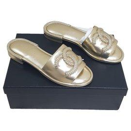 Chanel-Chanel sandali-Golden