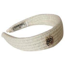 Chanel-Hair band-White
