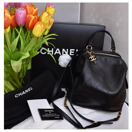 Chanel-Very Rare Backpack Black Quilted-Black