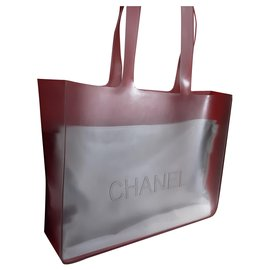 Chanel-Chanel.  Rubber tote bag.-Grey