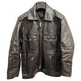 Autre Marque-Taylors leather jacket-Black