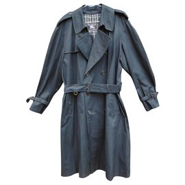 Burberry-men's Burberry vintage t trench coat 54-Navy blue