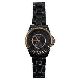 Chanel-Chanel J12-365 in black porcelaine H3838-Black