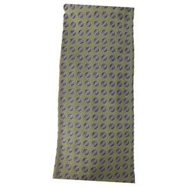 Hermès-Hermes tie Green purple dots-Green