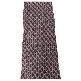 Hermès-Hermes tie in burgundy silk-Dark red