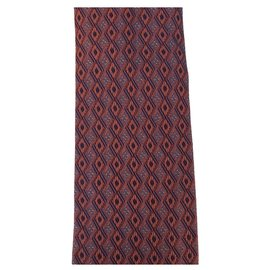 Hermès-Hermes Bordeaux Tie-Dark red