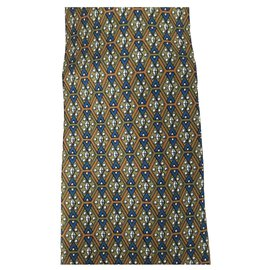 Hermès-Hermes tie in green silk-Green