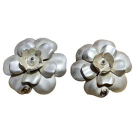 Chanel-Earrings-White