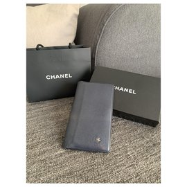 Chanel-Wallets-Navy blue