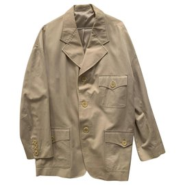 D&G-D&G Vintage beige cotton jacket-Beige