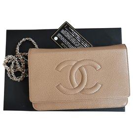 Chanel-wallet on chain-Beige