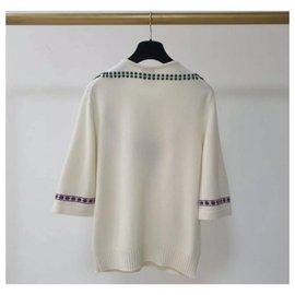 Chanel-Chanel Cashmere Sweater Sz 36-White