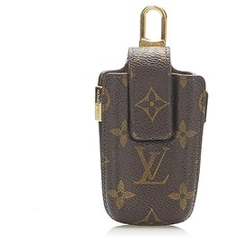 Louis Vuitton-Louis Vuitton Brown Monogram Cellphone Holder-Brown