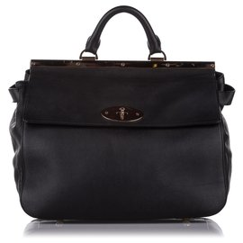 Mulberry-Mulberry Black Suffolk Leather Satchel-Black
