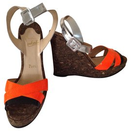 Christian Louboutin-Wedge mules-Other