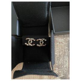 Chanel-Chanel clip earring-Golden